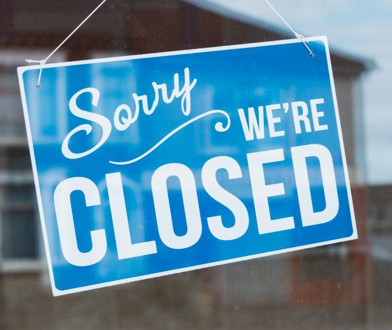 Sorry we zijn weer gesloten